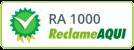 Selo do site Reclame Aqui, classificação de atendimento: Ótimo